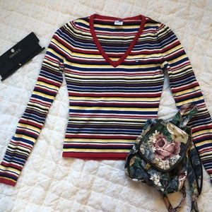90s Tommy jeans striped top